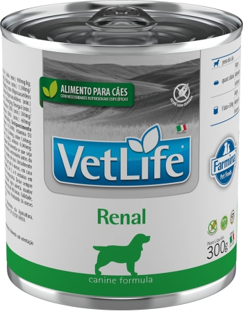 VET LIFE CANINE RENAL 300g ÚMIDO