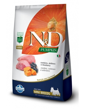 ND PUMPKIN CANINE CORDEIRO ADULTO MINI 2,5KG