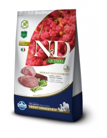 ND QUINOA CANINE CORDEIRO ADULTO WEIGHT 2,5KG