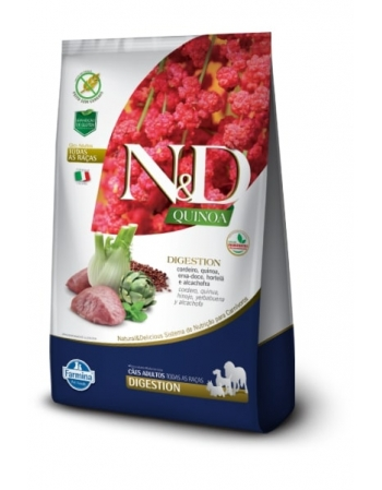 ND QUINOA CANINE CORDEIRO ADULTO DIGESTION 2,5KG