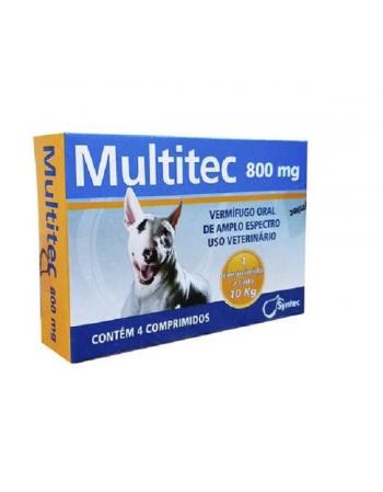 MULTITEC 800 MG - DIS 12UN X 4 COMP