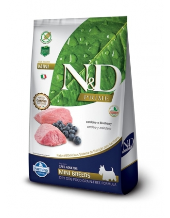 ND PRIME CANINE CORDEIRO ADULTO MINI 800GR