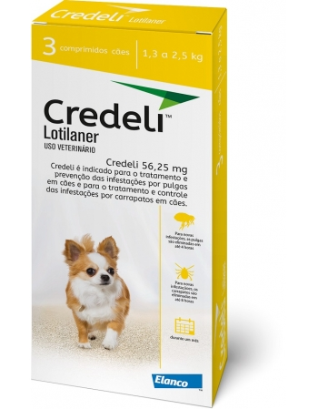 CREDELI 56,25MG(1,3 A 2,5 KG) C/ 3 COMP