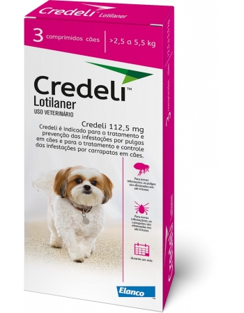 CREDELI 112,5MG (2,5 A 5,5 KG) C/ 3 COMP