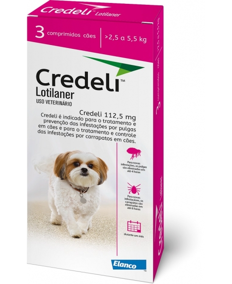 CREDELI 112,5MG (2,5 A 5,5 KG) C/ 3 COMP