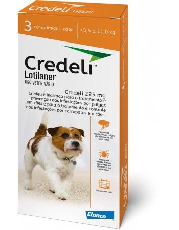 CREDELI 225MG ( 5,5 A 11 KG ) C/ 3 COMP